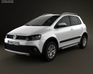 3D model of Volkswagen CrossFox 2012