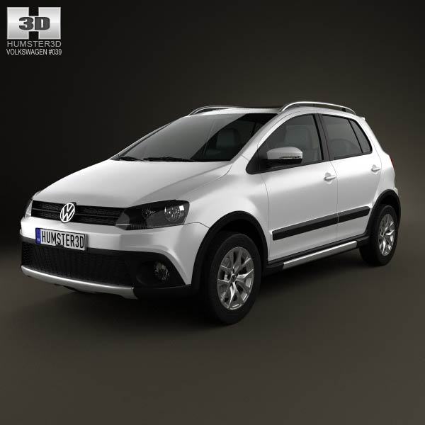Volkswagen CrossFox 2012 3d car model