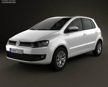 3D model of Volkswagen Fox 5-door 2012