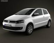 3D model of Volkswagen Fox 3-door 2012