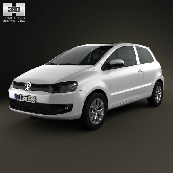 Volkswagen Fox 3-door 2012 3d car model