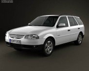 3D model of Volkswagen Parati 2012