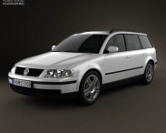 3D model of Volkswagen Passat (B5) variant 1997
