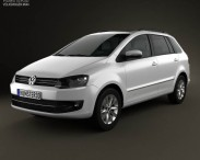 3D model of Volkswagen SpaceFox (Suran) 2012