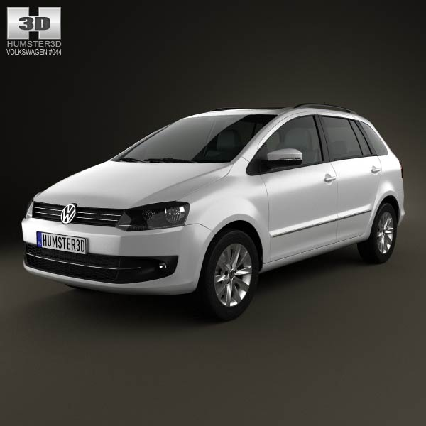 Volkswagen SpaceFox (Suran) 2012 3d car model