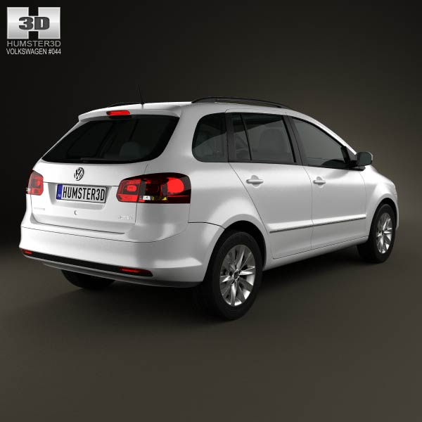 Volkswagen SpaceFox (Suran) 2012 3d model