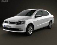 3D model of Volkswagen Voyage 2012