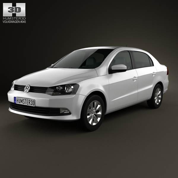 Volkswagen Voyage 2012 3d car model