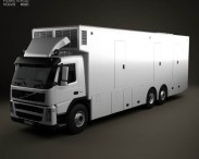 3D model of Volvo FM Outside Broadcast Truck 2010
