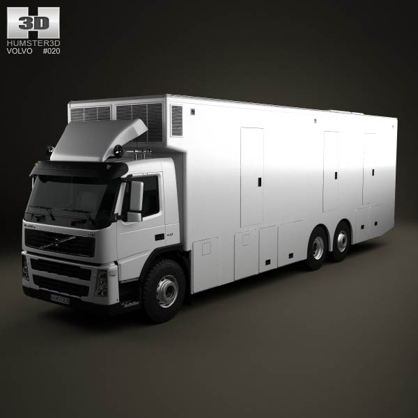 Volvo FM Outside Broadcast Truck 2010 3d car model