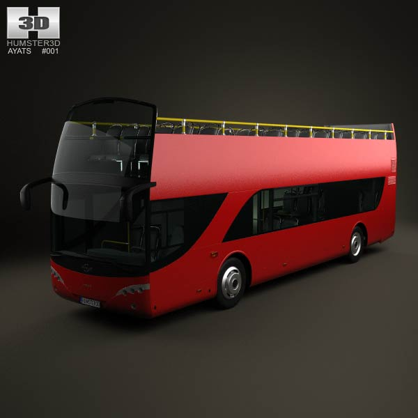 Ayats Bravo I City Double Decker Bus 2012 3d car model