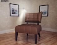3D model of Beige Microfiber Chair – Allen Park