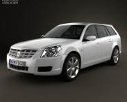 3D model of Cadillac BLS wagon 2009