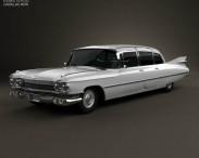 3D model of Cadillac Fleetwood 75 sedan 1959