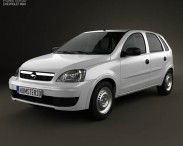 3D model of Chevrolet Corsa 5-door hatchback 2012