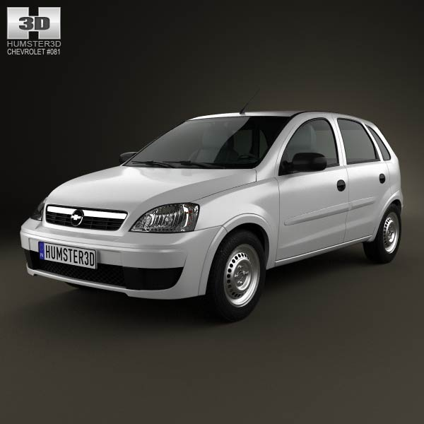 Chevrolet Corsa 5-door hatchback 2012 3d car model