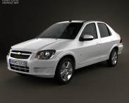 3D model of Chevrolet Prisma 2013