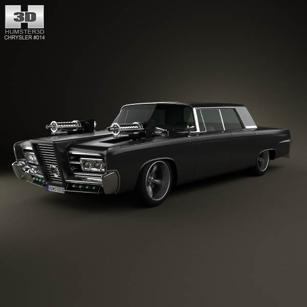 Chrysler Imperial Crown Green Hornet Black Beauty 1965 3d car model