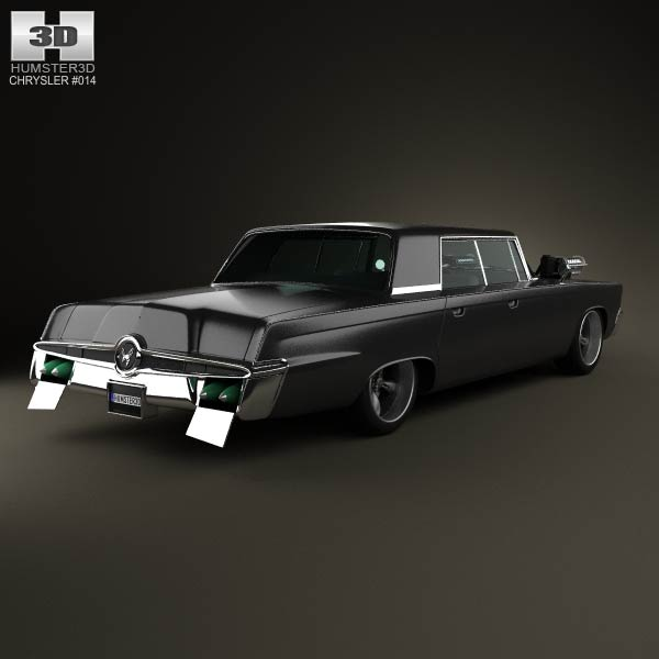 Chrysler Imperial Crown Green Hornet Black Beauty 1965 3d model