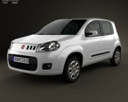 3D model of Fiat Uno Attractive hatchback 5-door 2013