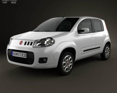 3D model of Fiat Uno Attractive hatchback 5-door 2013