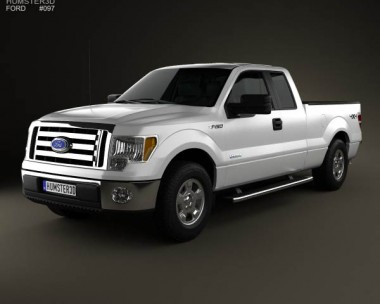 3D model of Ford F-150 Super Cab 2011