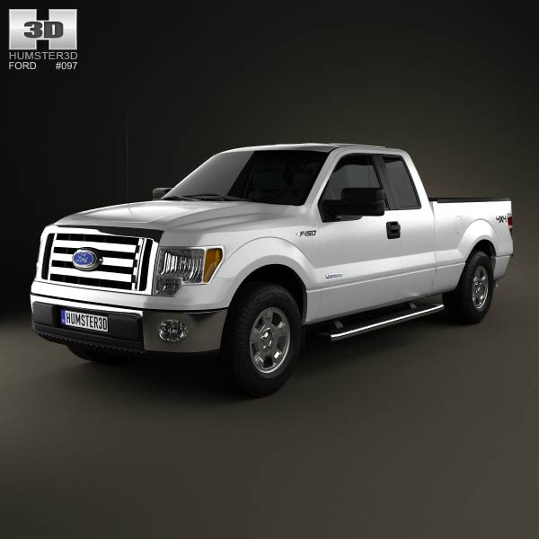 Ford F-150 Super Cab 2011 3d car model