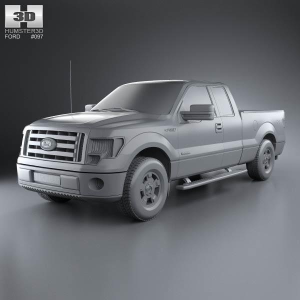 ford f 150 super cab 2011 3d model humster3d. Black Bedroom Furniture Sets. Home Design Ideas