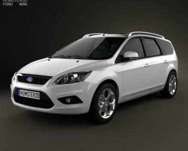 3D model of Ford Focus estate 2008