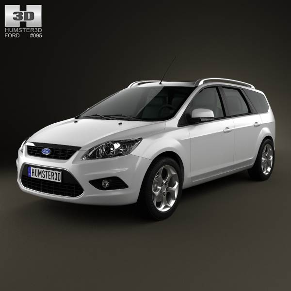 Ford Focus estate 2008 3d car model