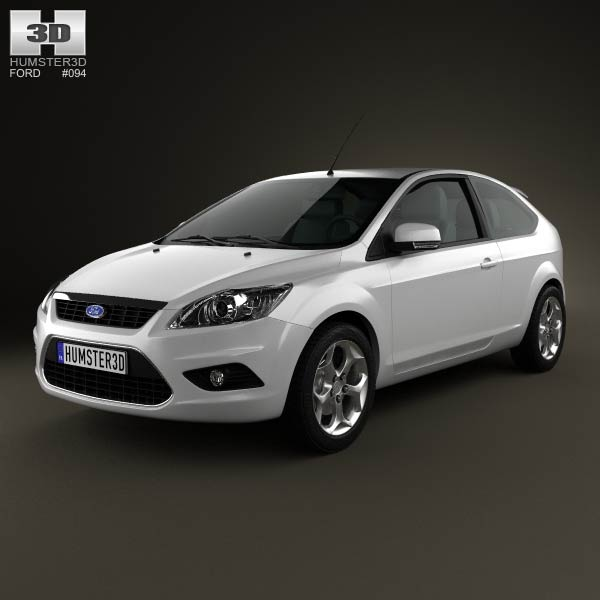 Ford Focus hatchback 3-door 2008 3d car model