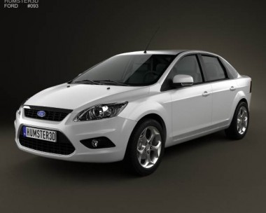 3D model of Ford Focus sedan 2008