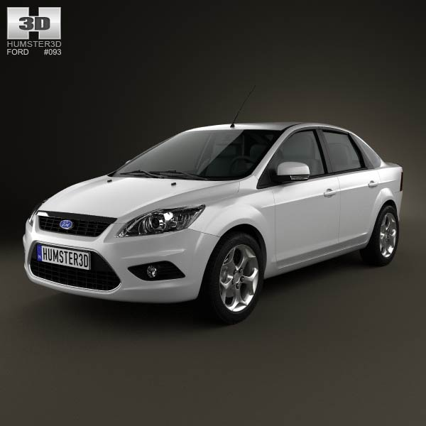 Ford Focus sedan 2008 3d car model