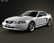 3D model of Ford Mustang GT coupe 1998