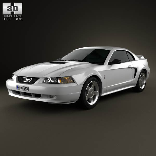 Ford Mustang GT coupe 1998 3d car model