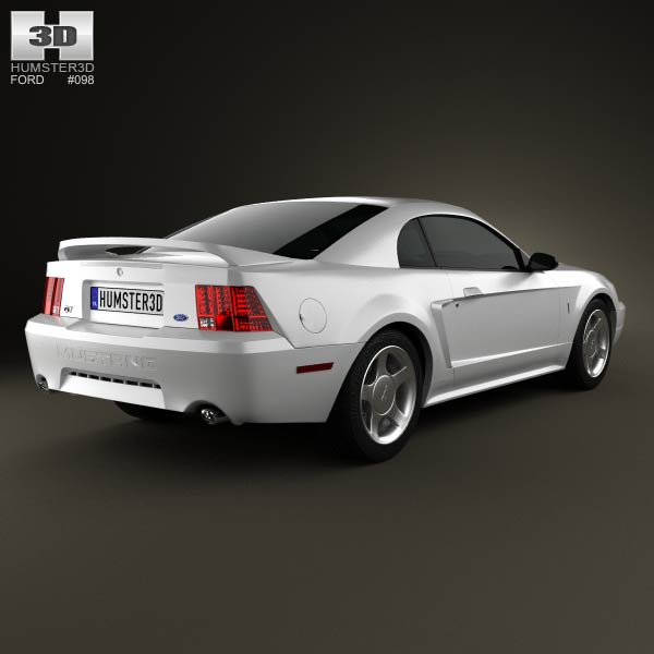 Ford Mustang GT coupe 1998 3d model