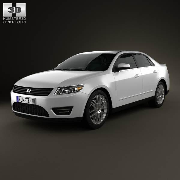 Generic Sedan 2013 3d car model