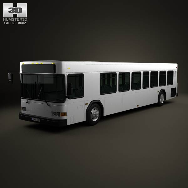 Gillig Low Floor Bus 2012 3d car model