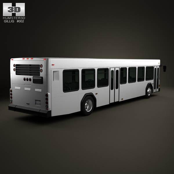 Gillig Low Floor Bus 2012 3d model