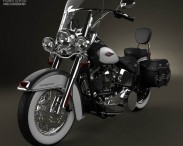 3D model of Harley-Davidson Heritage Softail Classic 2012