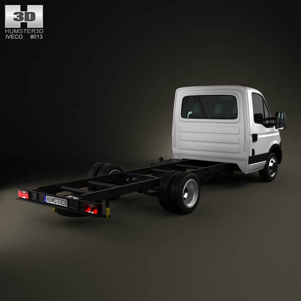 Iveco Daily Single Cab Chassis 2012 3d model