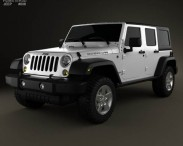 3D model of Jeep Wrangler Unlimited 2013
