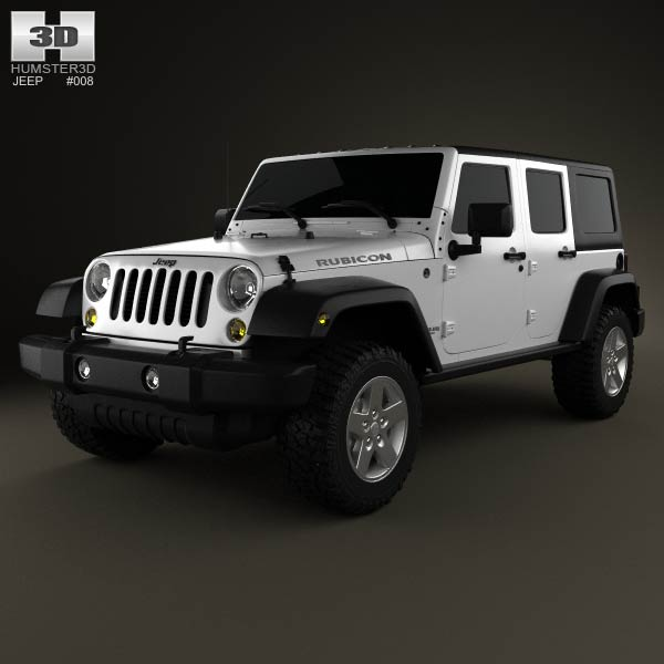Jeep Wrangler Unlimited 2013 3d car model