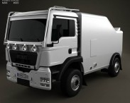 3D model of MAN TGS Rally Truck 2012