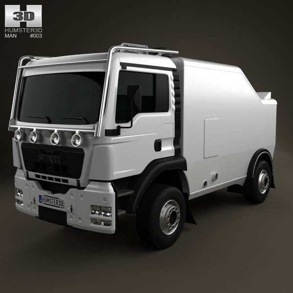 MAN TGS Rally Truck 2012 3d car model