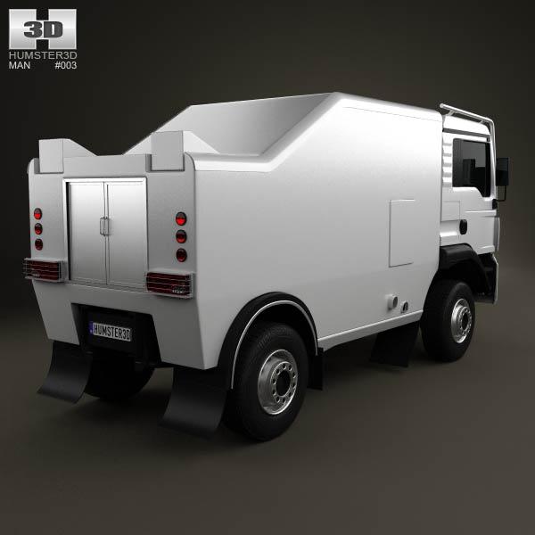 MAN TGS Rally Truck 2012 3d model