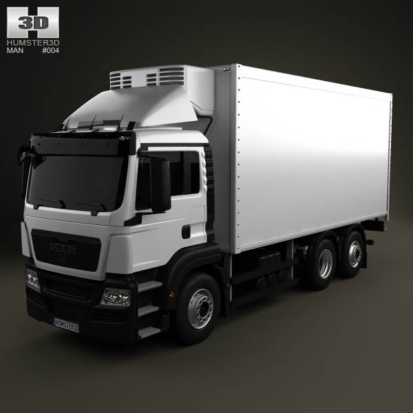 MAN TGS Refrigerator Truck 2012 3d car model