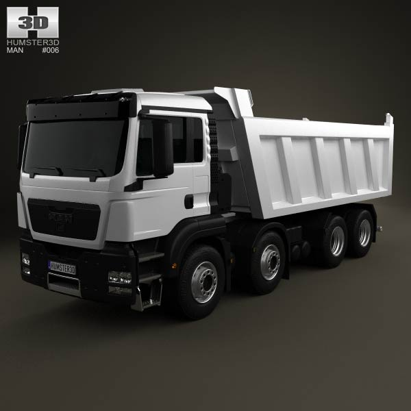 MAN TGS Tipper Truck 2012 3d car model