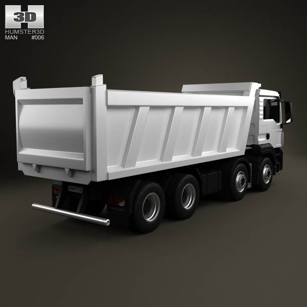 MAN TGS Tipper Truck 2012 3d model