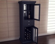 3D model of Meridian Wine Curio in Espresso